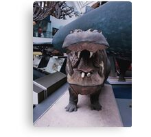 Hippo at NHM Canvas Print