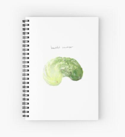 Beautiful Cucumber Spiral Notebook