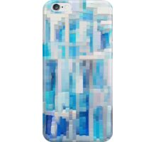 Abstract blue pattern 2 iPhone Case/Skin