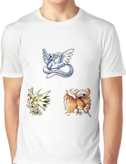 The Legendary Birds - Pokemon Red & Blue Graphic T-Shirt