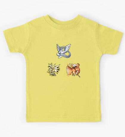 The Legendary Birds - Pokemon Red & Blue Kids Tee