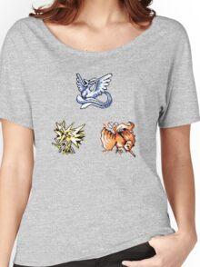 The Legendary Birds - Pokemon Red & Blue Women's Relaxed Fit T-Shirt