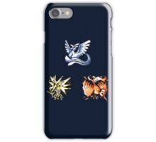 The Legendary Birds - Pokemon Red & Blue iPhone Case/Skin