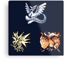 The Legendary Birds - Pokemon Red & Blue Metal Print