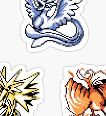 The Legendary Birds - Pokemon Red & Blue Sticker