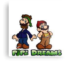 Mario and Luigi - Pipe Dreams Metal Print
