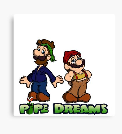 Mario and Luigi - Pipe Dreams Canvas Print