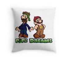 Mario and Luigi - Pipe Dreams Throw Pillow