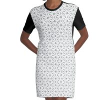 Geometric Floral Collection- Pattern 10 Graphic T-Shirt Dress
