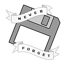 Floppy Disc - Never Forget Photographic Print