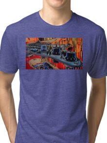 Neon Guitar Tri-blend T-Shirt