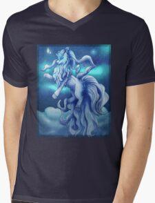 Pokemon Alola Form Ninetales Mens V-Neck T-Shirt