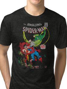 Spider-Man vs Vulture & Kraven The Hunter Tri-blend T-Shirt