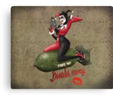 Harley Quinn War Pin Up Canvas Print