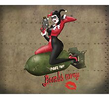 Harley Quinn War Pin Up Photographic Print