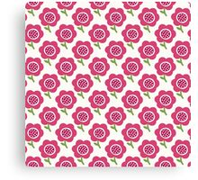 Simple baby pattern. Cute seamless wallpaper. Doodle little flower background. Canvas Print
