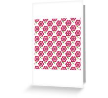 Simple baby pattern. Cute seamless wallpaper. Doodle little flower background. Greeting Card