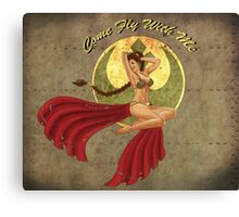 Slave Leia War Pin Up Canvas Print