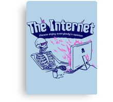 The Internet Canvas Print