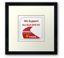 RED Road to Anfield Framed Print
