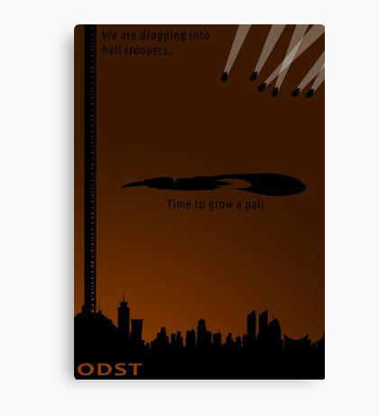 Minimalist ODST Poster (portrait) Canvas Print