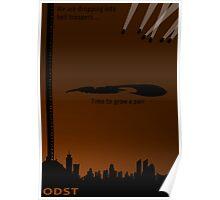 Minimalist ODST Poster (portrait) Poster