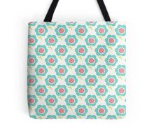 Simple baby pattern. Cute seamless wallpaper. Doodle little blue flower background. Tote Bag