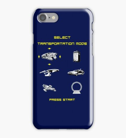 SELECT YOUR TRANSPORATION MODE ! iPhone Case/Skin