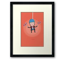 Lets Dress…Boris Johnson Zip Wire Framed Print