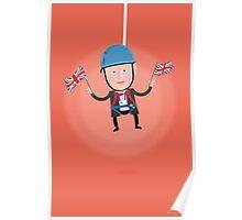 Lets Dress…Boris Johnson Zip Wire Poster