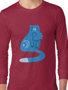 Blue Moon Kitty Cat Long Sleeve T-Shirt