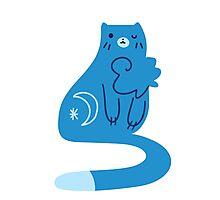 Blue Moon Kitty Cat Photographic Print