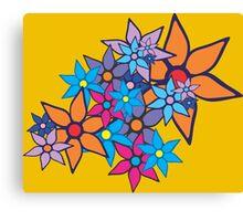 Retro Floral Pattern Canvas Print