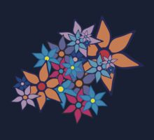 Retro Floral Pattern Kids Tee