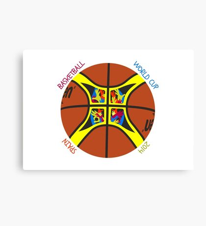 Basketball World Cup Spain 2014 Official ball Canvas Print
