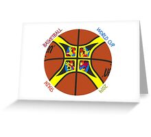 Basketball World Cup Spain 2014 Official ball Greeting Card