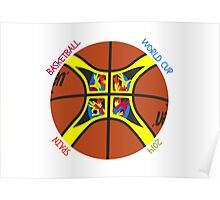 Basketball World Cup Spain 2014 Official ball Poster