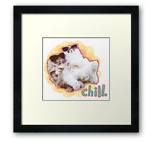 chill | summer american fuzzy lop bunny rabbit bff maxin relaxin chillax netflix chill beach vibes  Framed Print