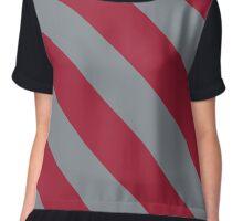 Tuscaloosa Alabama Grey & Red Team Color Stripes Chiffon Top