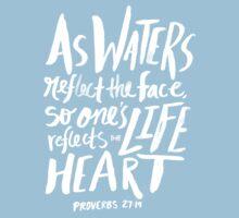 Proverbs 27: 19 x Rose Kids Tee