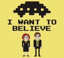 I Want To Believe 8bit One Piece - Short Sleeve