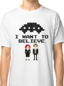 I Want To Believe 8bit Classic T-Shirt