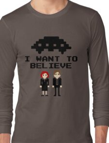 I Want To Believe 8bit Long Sleeve T-Shirt