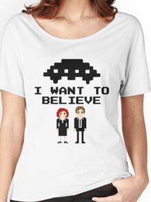I Want To Believe 8bit Women's Relaxed Fit T-Shirt