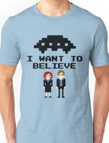 I Want To Believe 8bit Unisex T-Shirt