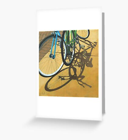 Out to Lunch - Bicycle art Greeting Card