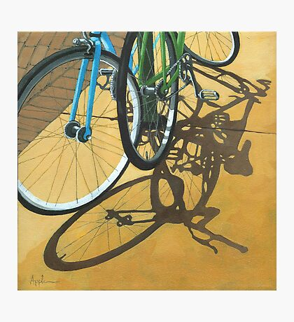 Out to Lunch - Bicycle art Photographic Print