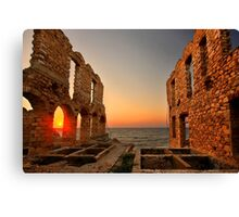 The twilight of the old tanneries - Samos island Canvas Print