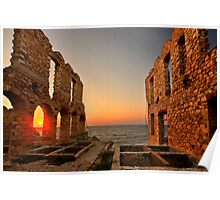 The twilight of the old tanneries - Samos island Poster