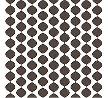 Eames Era Retro 60s Waves Pattern  (Dark Cool Brown) Photographic Print